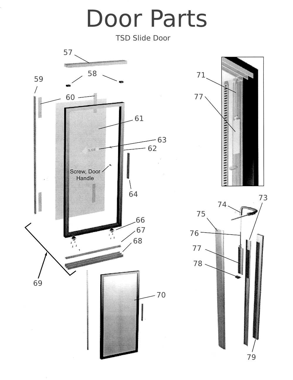 Shower Door Frame Components