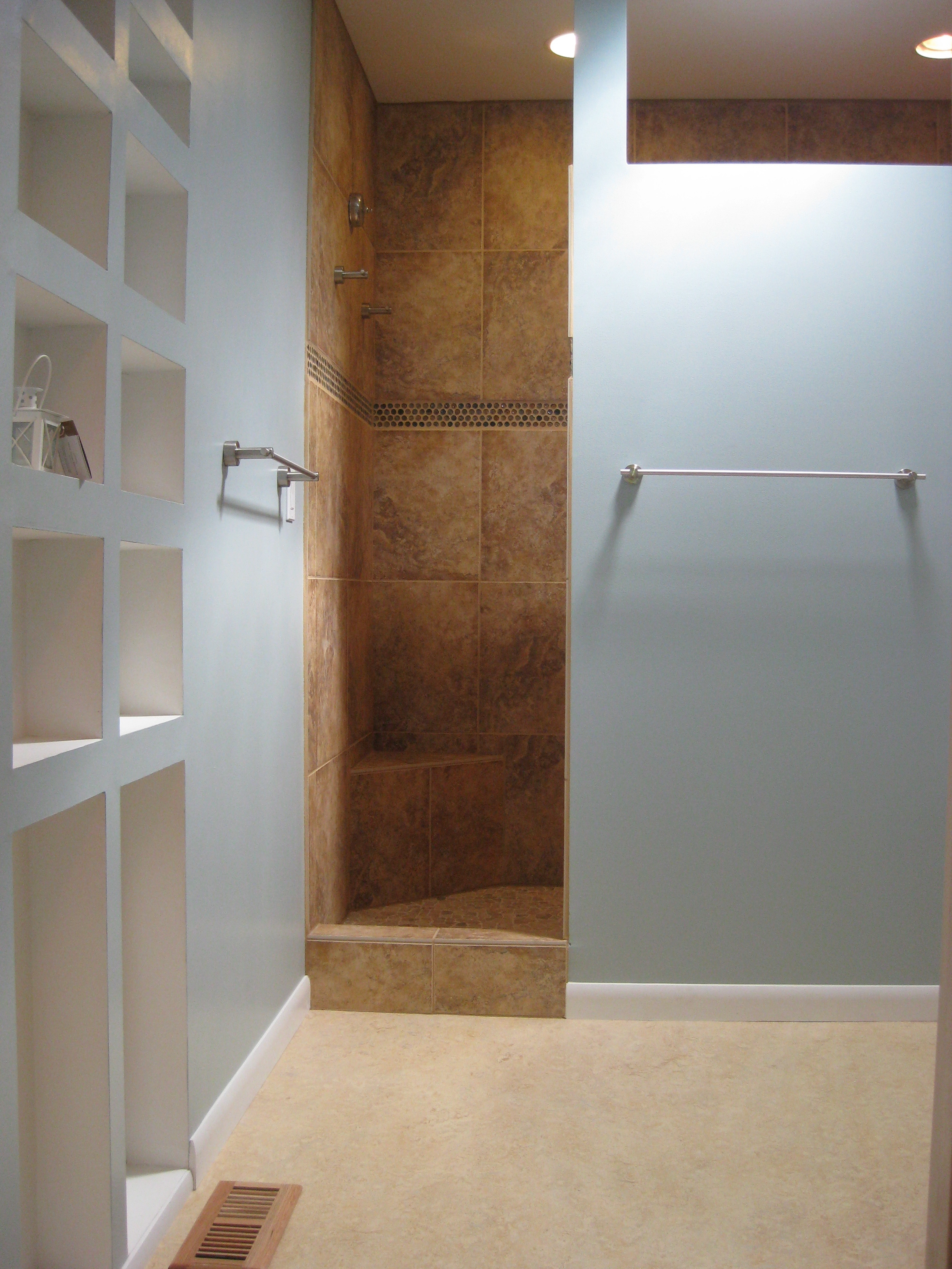 Tile Showers Without Glass Doorselegant small showers without glass doors design ideas open shower