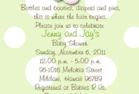 Angels Precious Moments Ba Shower Invitations Green And Polka Dots pertaining to size 954 X 1500