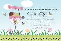Animated Ba Shower Invitations Liming intended for size 1500 X 1071