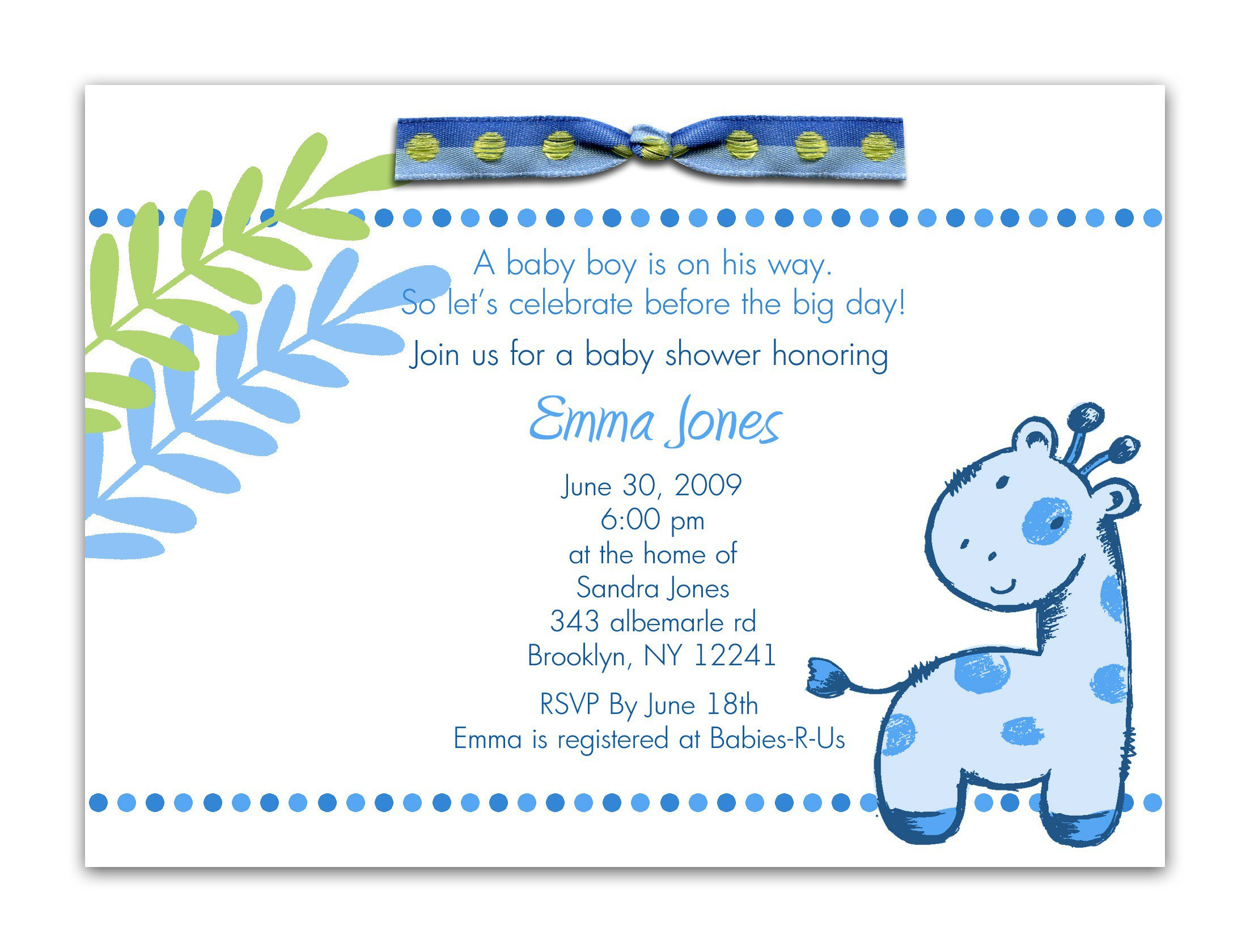 Baby Shower Invite Poems For Boy