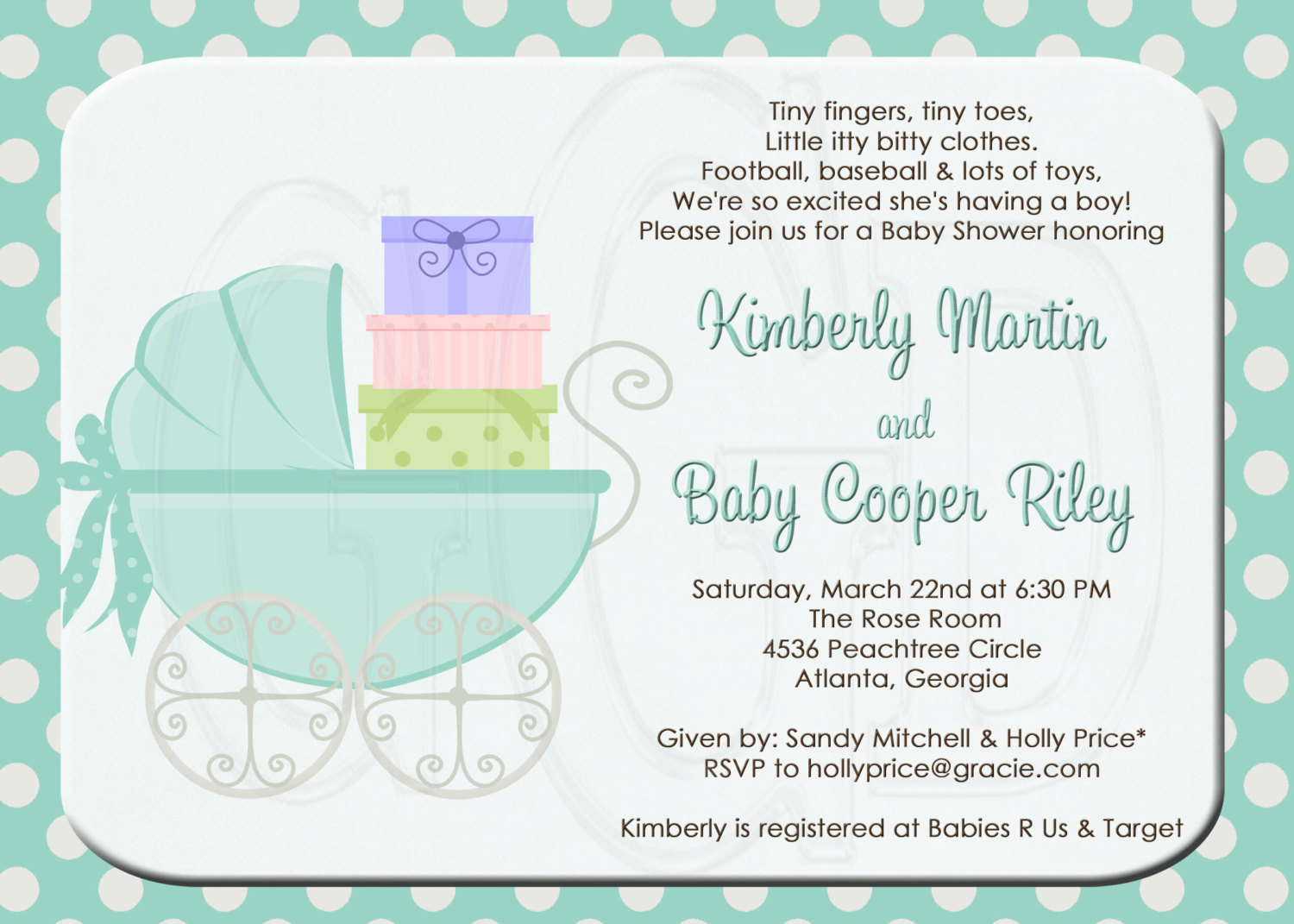 Wording For A Second Baby Shower Invite