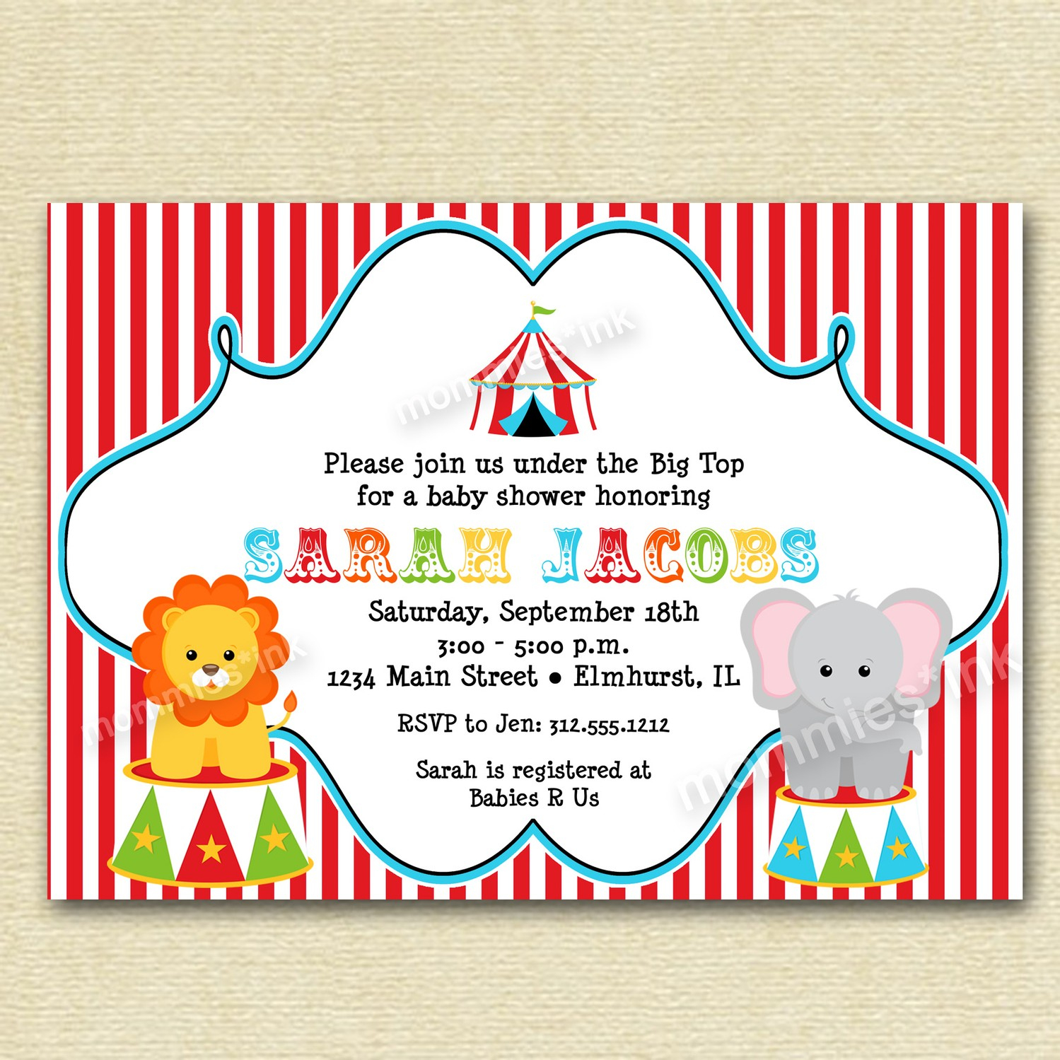 Ba Shower Invitations Best 10 Vintage Circus Ba Shower within sizing 1499 X 1499