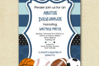 Ba Shower Invitations Captivating Sports Themed Ba Shower with measurements 1500 X 1500