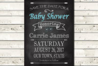 Ba Shower Save The Date Chalkboard Art Save The Date with sizing 1500 X 1216