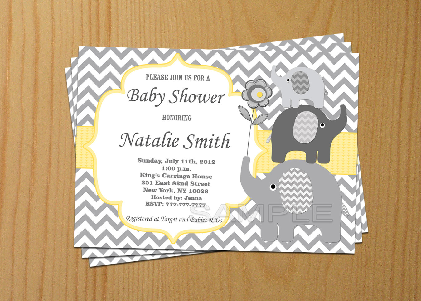 Boy Ba Shower Invitation Boy Elephant Ba Shower within measurements 1350 X 965
