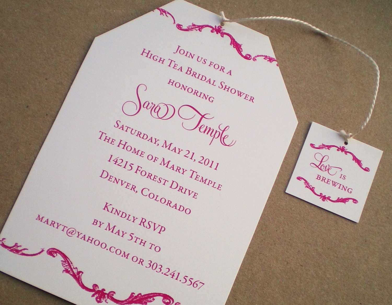Bridal Shower Tea Party Invitation Wording Cimvitation with regard to sizing 1500 X 1170