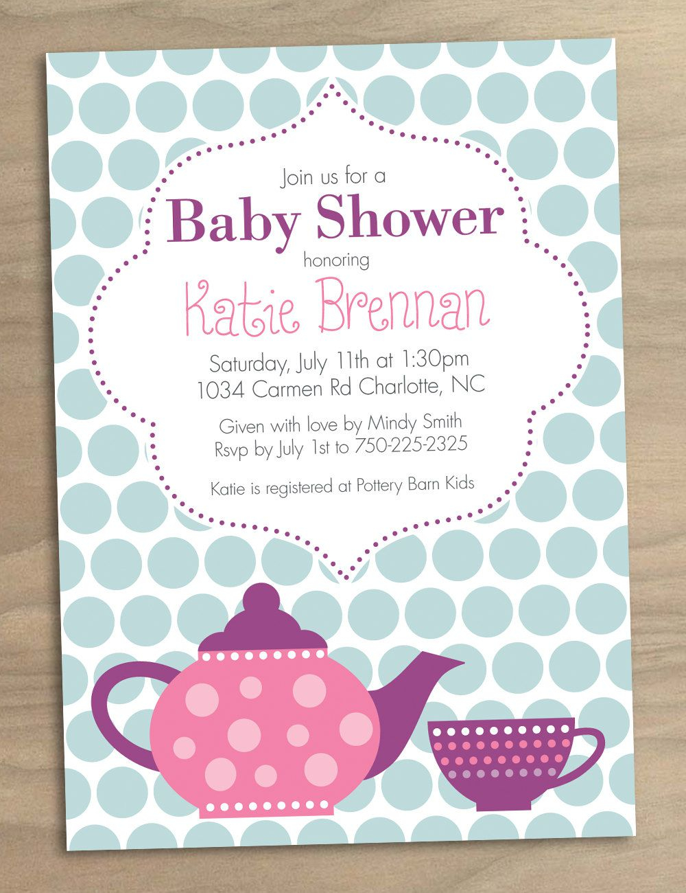 Bridal Shower Tea Party Invitations Bridal Shower Tea Party within proportions 1000 X 1300