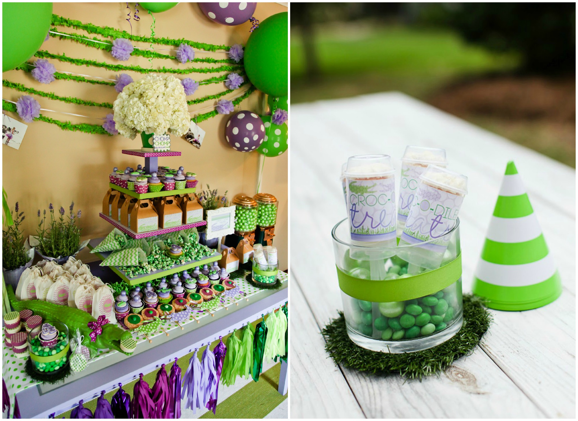 Lime Green And Purple Baby Shower