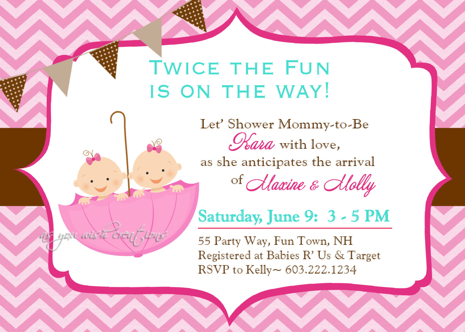 Design Ba Shower Invitations For Twins throughout dimensions 1500 X 1071