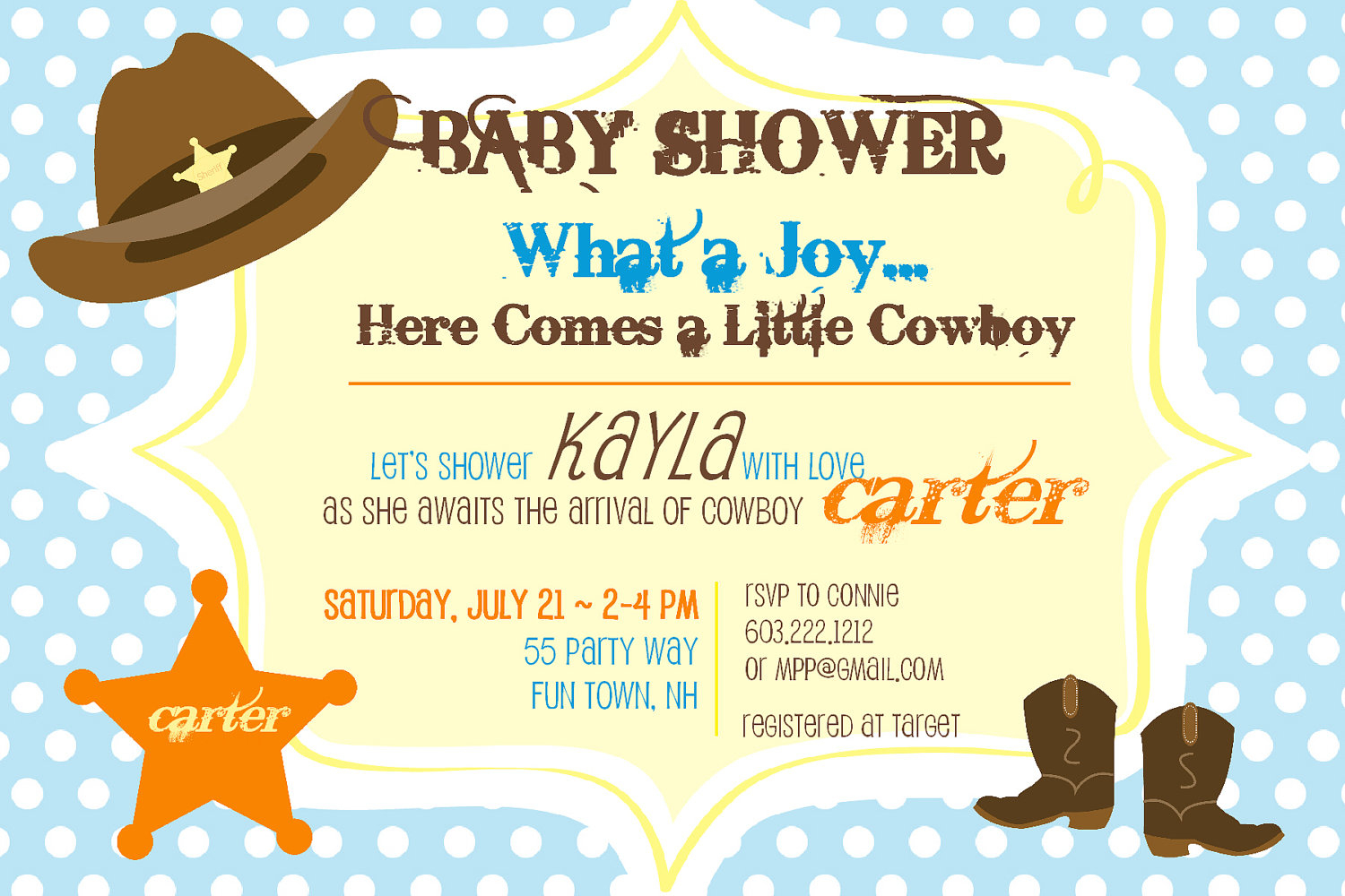 Design Cowboy Ba Shower Invitations inside proportions 1500 X 1000
