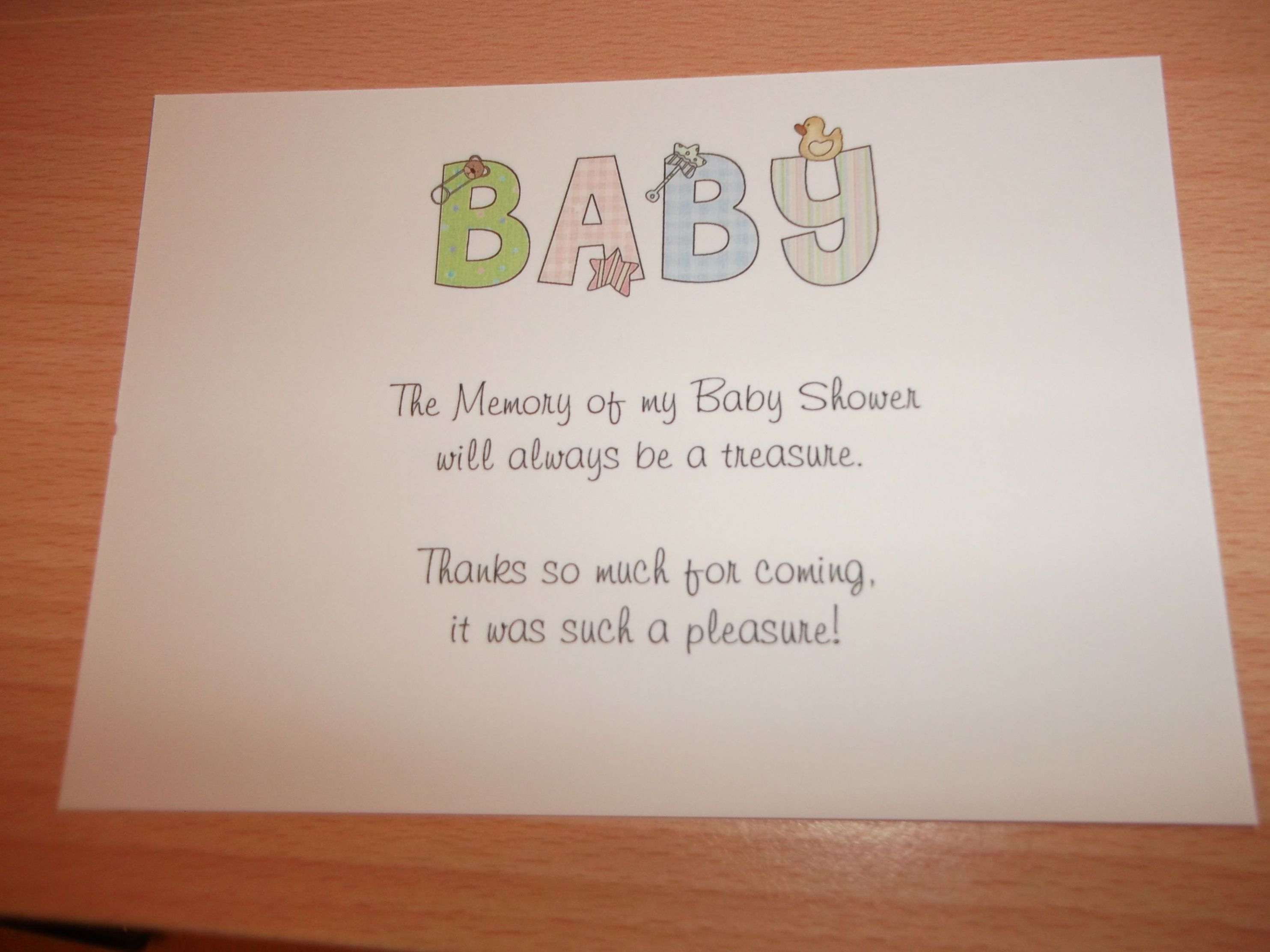 what to write in a baby shower book