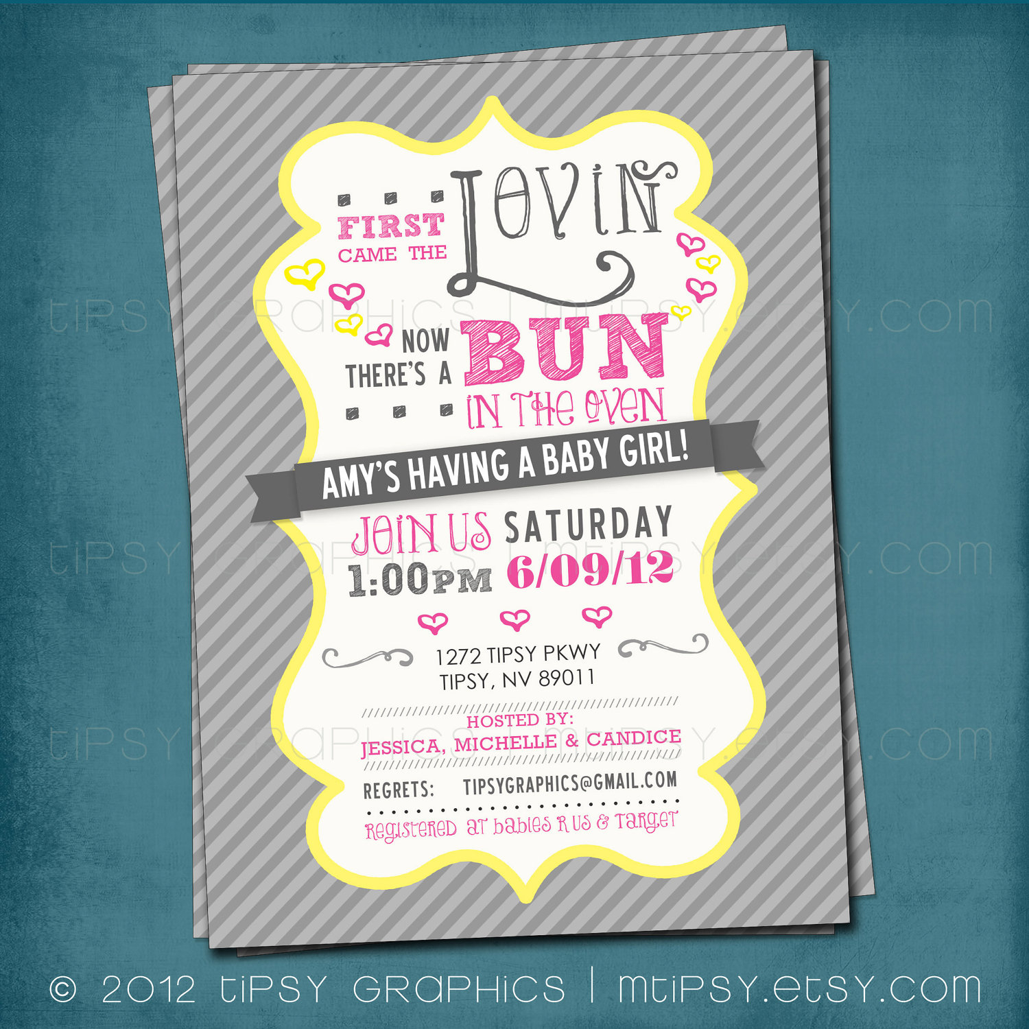 First Came The Lovin Bun In The Oven Ba Shower Invite within sizing 1500 X 1500