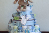 Foodspiration Three Ba Shower Diaper Cakes Not To Eat with proportions 781 X 1055