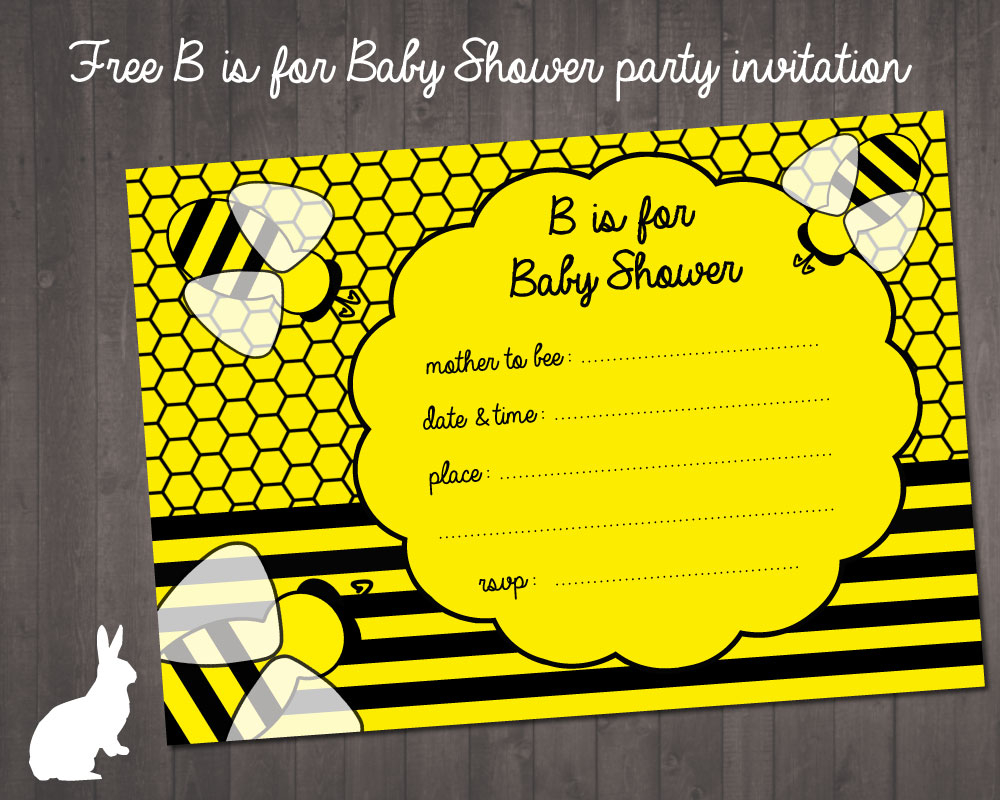 Printable Bumble Bee Baby Shower Invitations O Showers Design