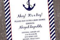 Free Nautical Ba Shower Invitation Templates Theruntime throughout measurements 1125 X 1500