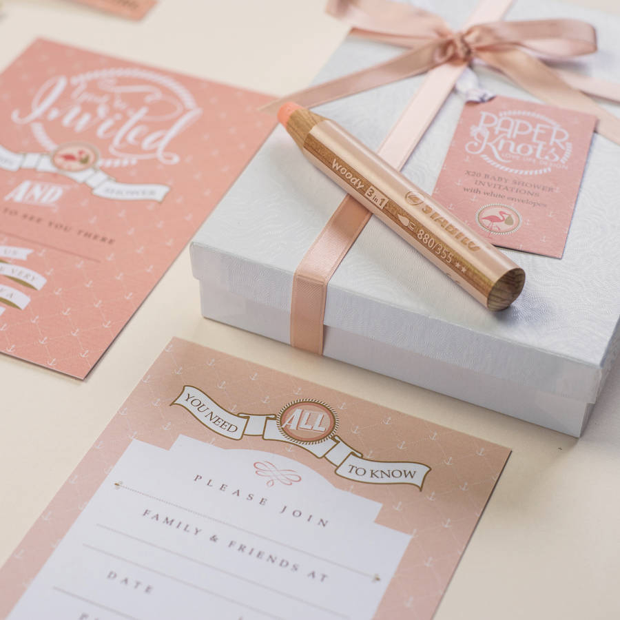 Fresh Design Ba Shower In A Box Marvellous Invitation Sets within dimensions 900 X 900
