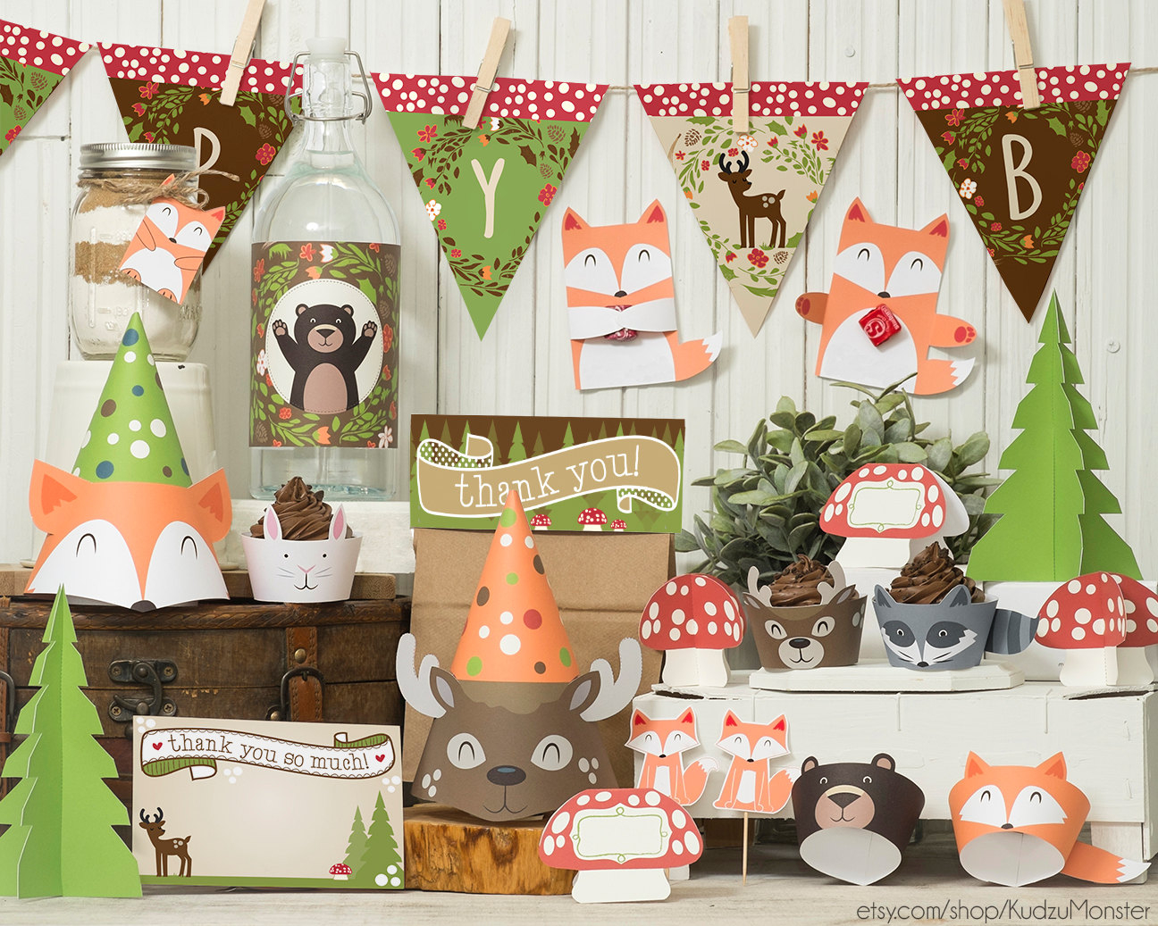 Gender Neutral Woodland Animals Ba Shower Party Supplies inside sizing 1296 X 1037
