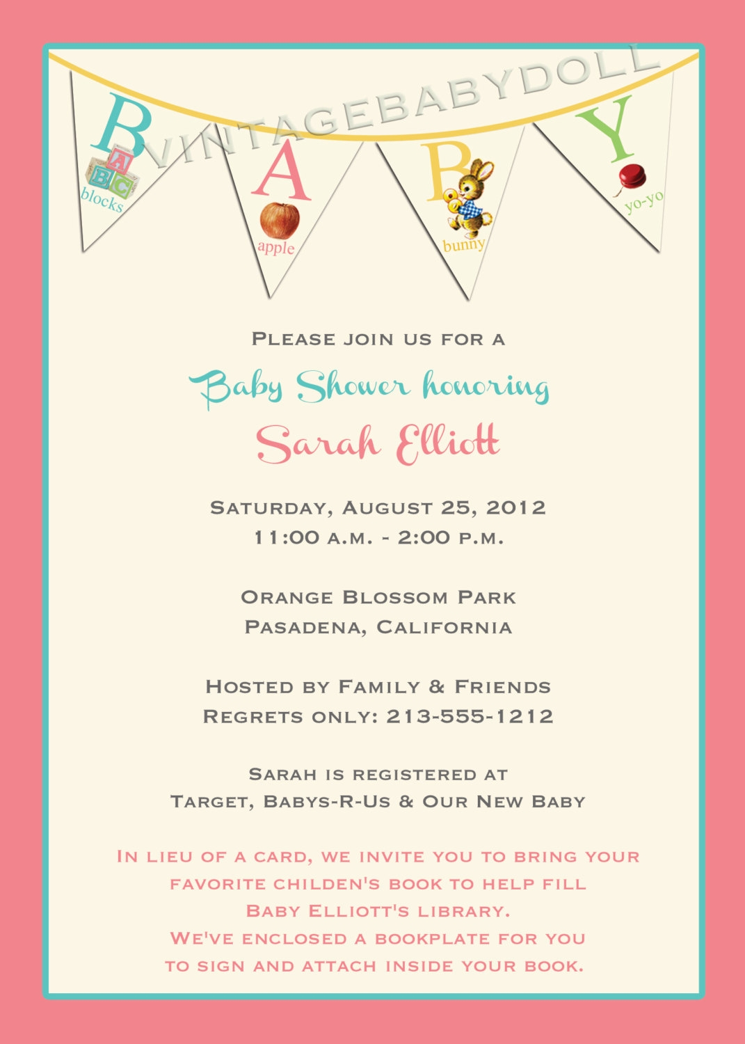 In Lieu Of Gifts Baby Shower Wording