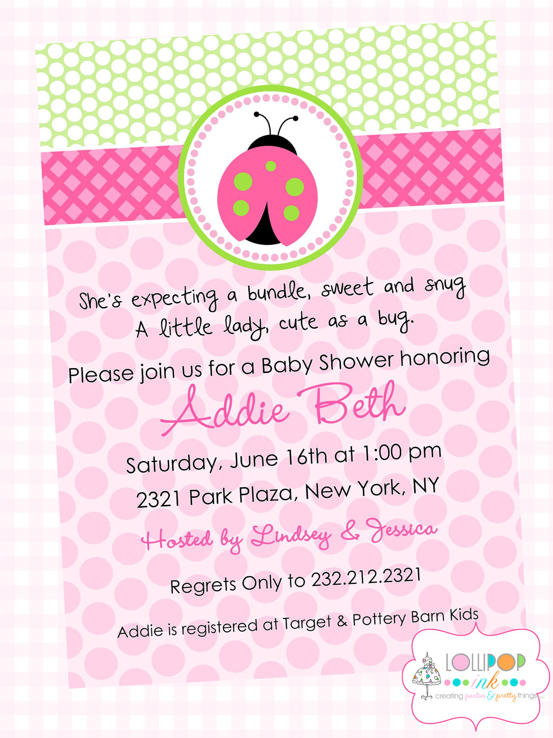 Cute Baby Shower Invite Wording For A Girl Baby Showers Design