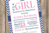 Girl Nautical Ba Shower Invitation Pink Navy Anchor pertaining to dimensions 1000 X 1000