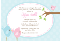Imposing Ideas Bird Ba Shower Invitations Impressive Inspiration within sizing 1600 X 1236