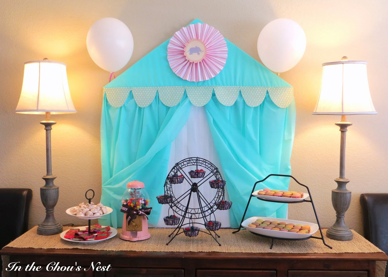 In The Chous Nest Circus Themed Ba Shower Details for size 1600 X 1142