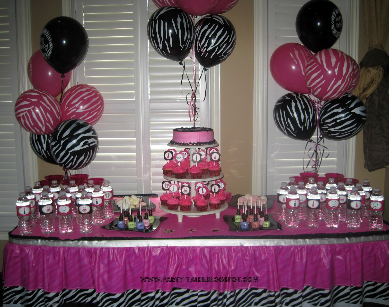 Pink Animal Print Baby Shower Decorations Baby Showers Design