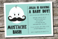 Mustache Ba Shower Invitation Templates Theruntime within sizing 1500 X 1071