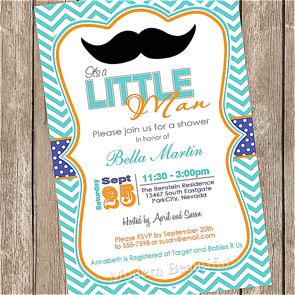 Mustache Ba Shower Invitations Fullxfull Print Great Zoom pertaining to sizing 1000 X 1000
