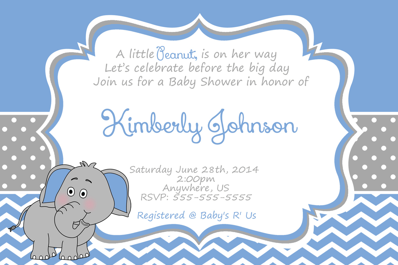 Baby Shower Invitations For Boy Party
