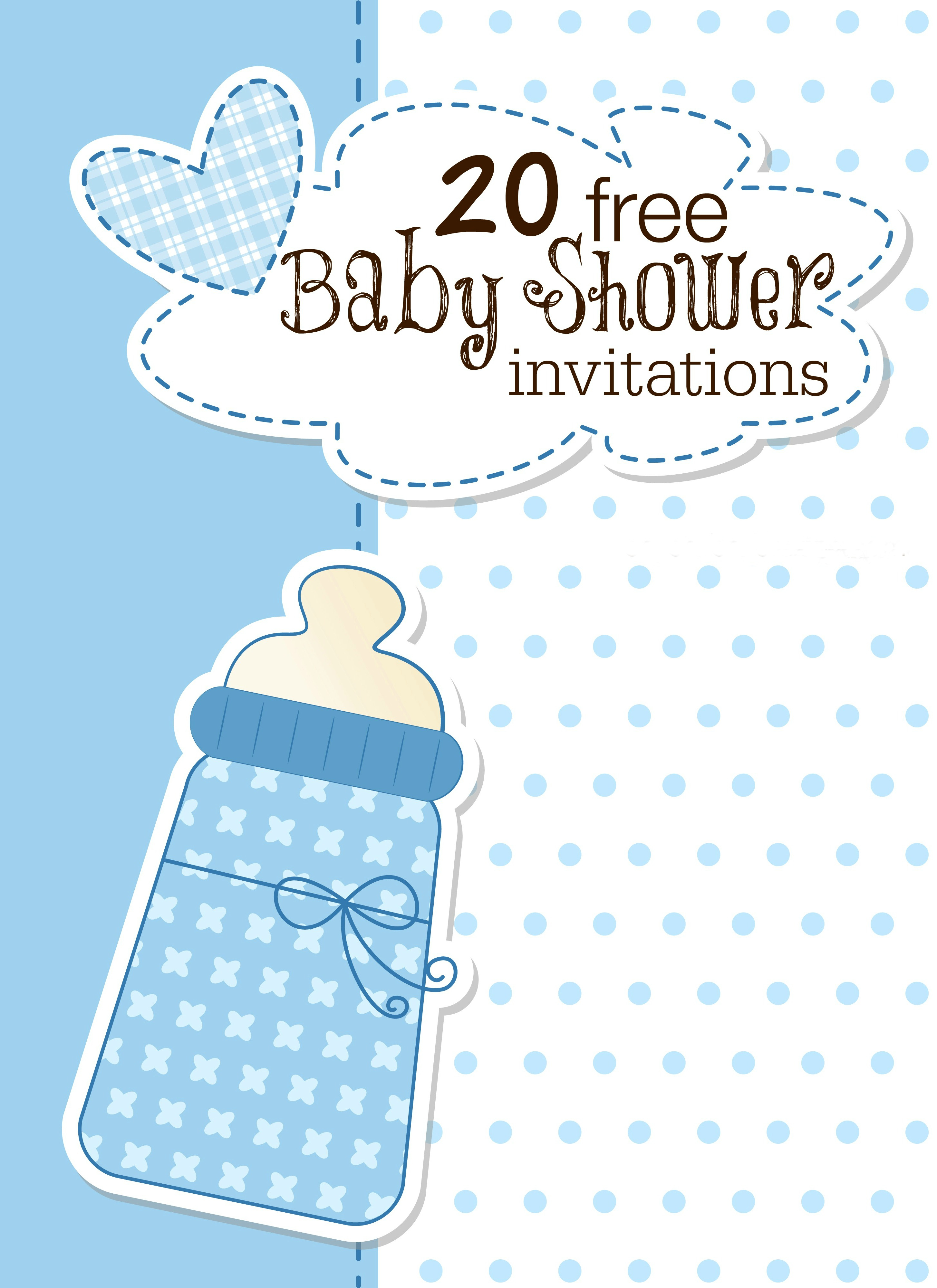 Printable Ba Shower Invitations inside size 2908 X 4000