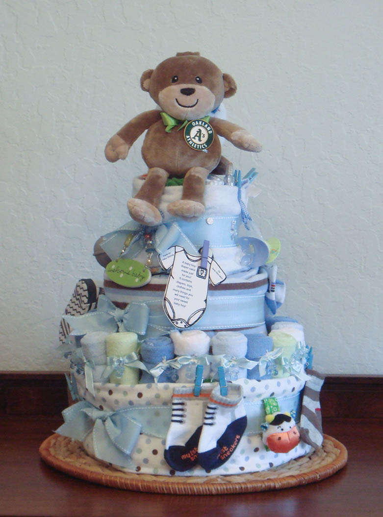 Stylish Design Diaper Cake Ba Shower Awesome Foodspiration Three for proportions 781 X 1055