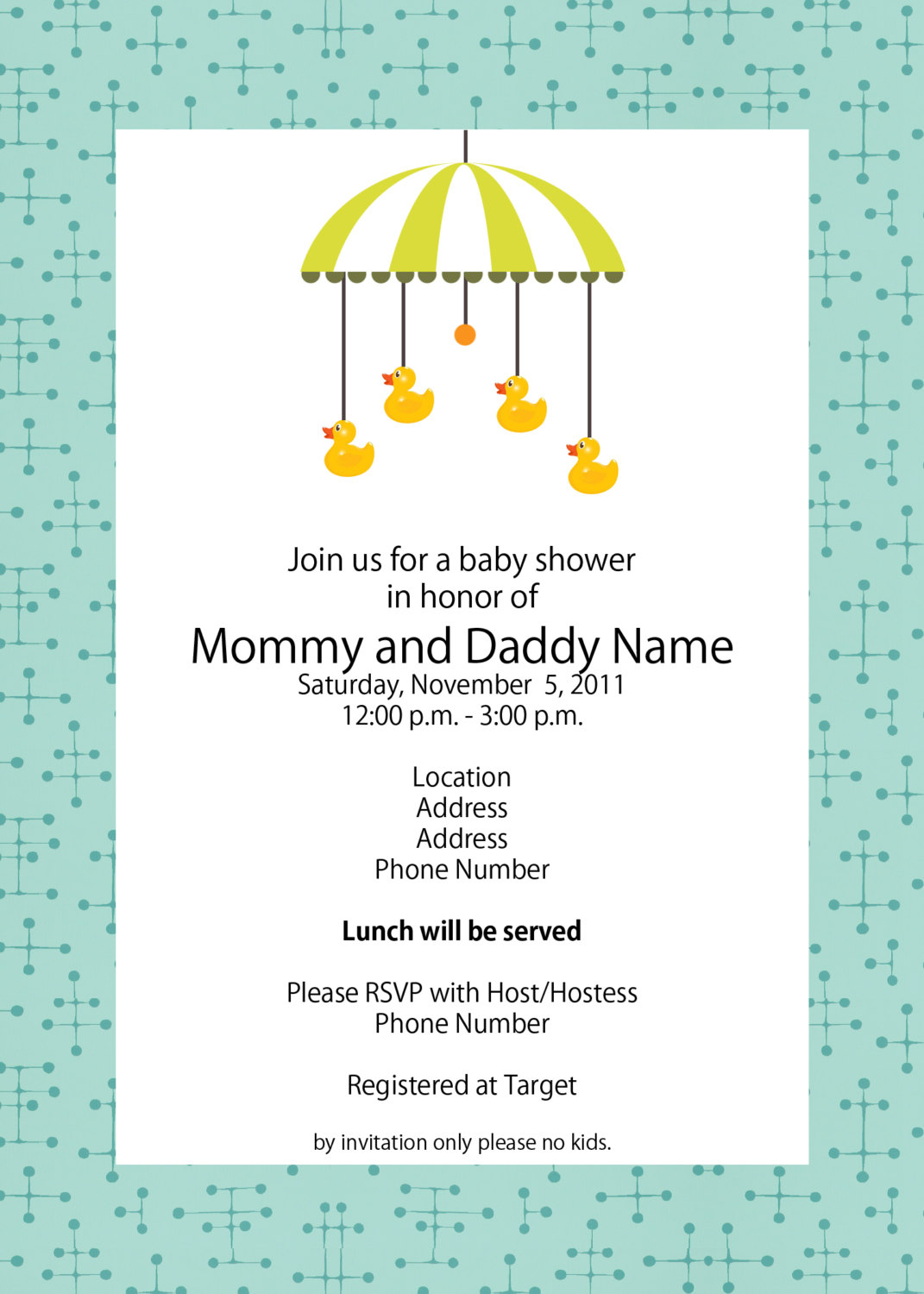 Template Free Ba Shower Invitation Template intended for dimensions 1071 X 1500