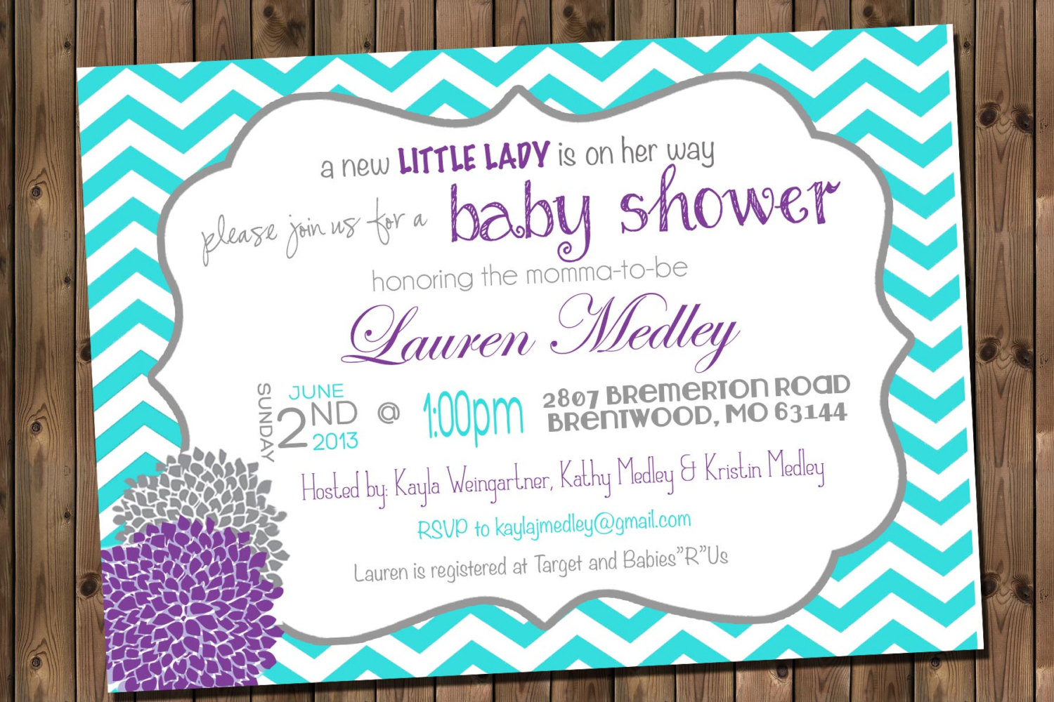 Template Purple Ba Shower Invitations with dimensions 1500 X 1000