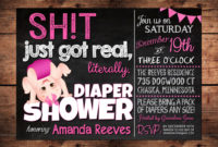 The Original Sht Just Got Real Funny Ba Shower Invitation inside dimensions 1500 X 1071