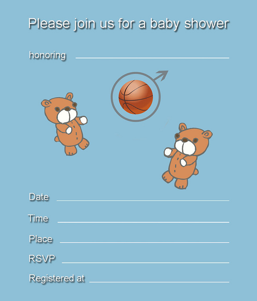 Theme Sports Themed Ba Shower Invitations with sizing 876 X 1024