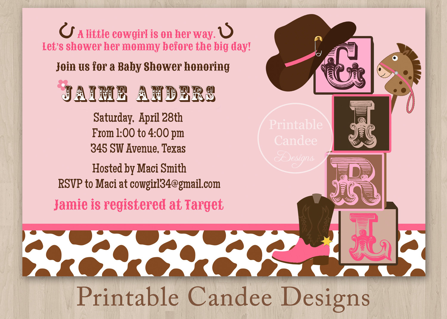 Themes Birthday Ba Boy Shower Invitations Western Theme Also in size 1500 X 1072