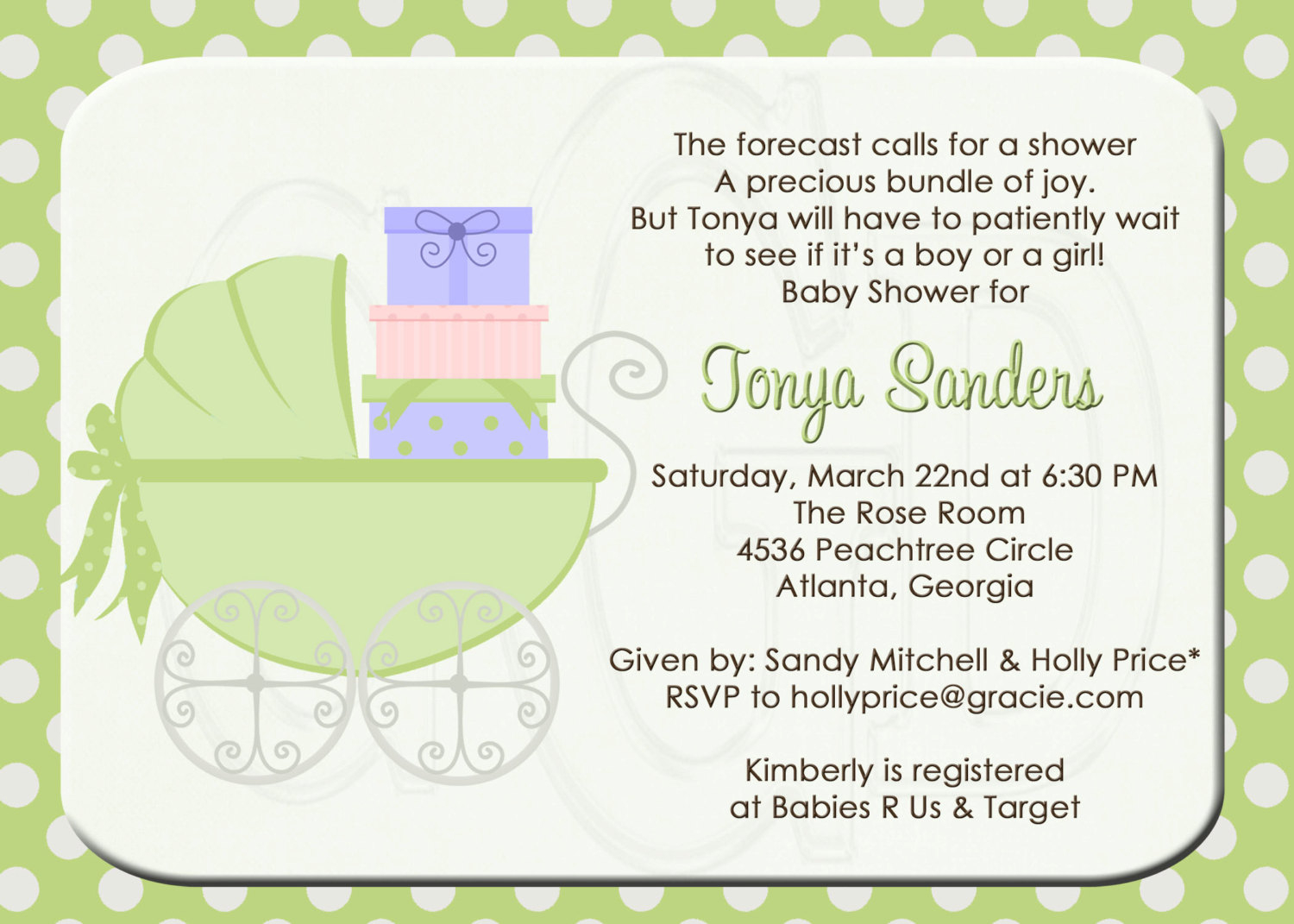 Baby Shower High Tea Invitation Wording O Showers Design