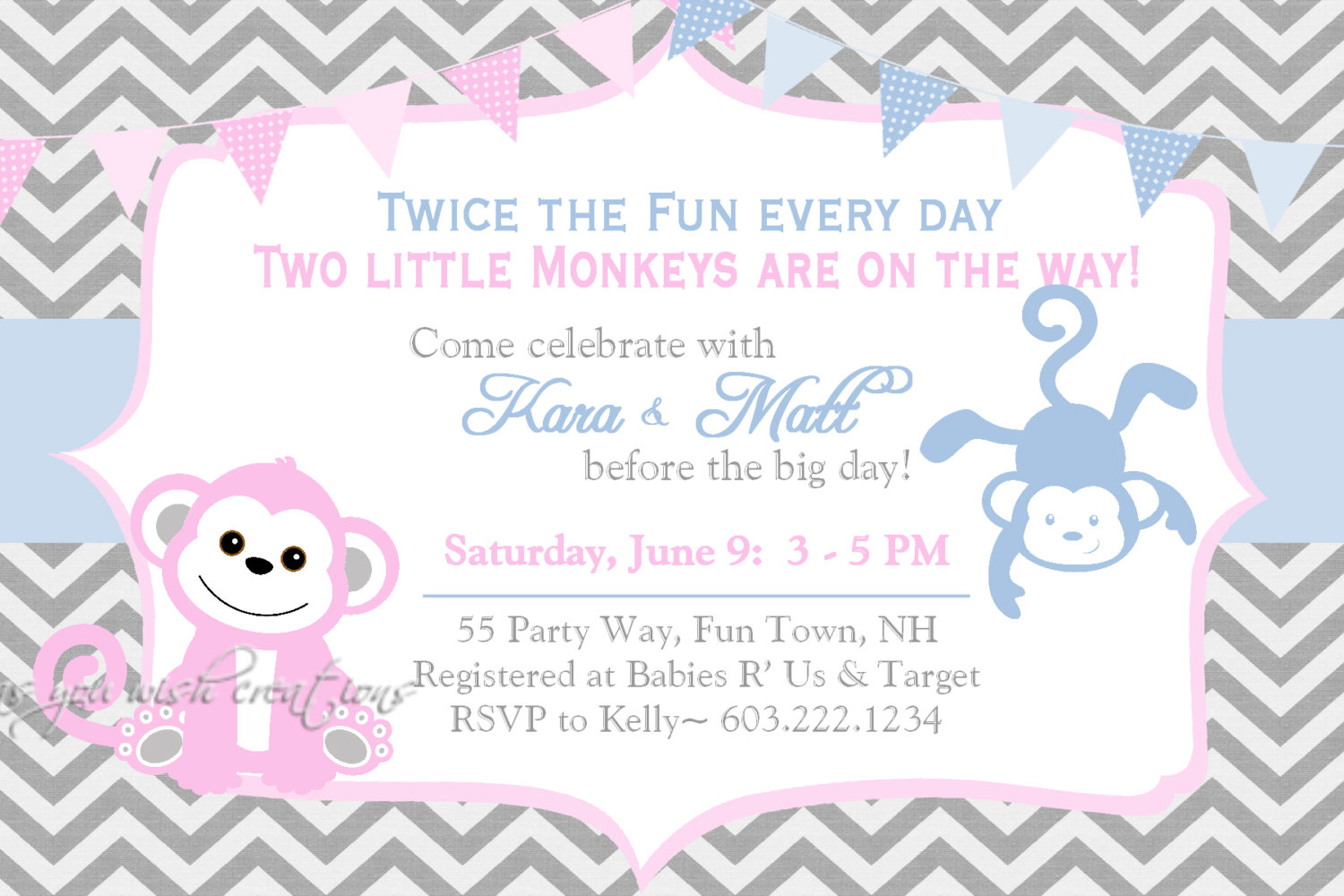 Unique Ideas For Twin Ba Shower Invitations Free Templates with sizing 1500 X 1000