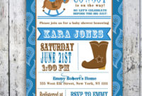 Western Ba Shower Invitations Western Ba Shower Invitations pertaining to size 1000 X 1000