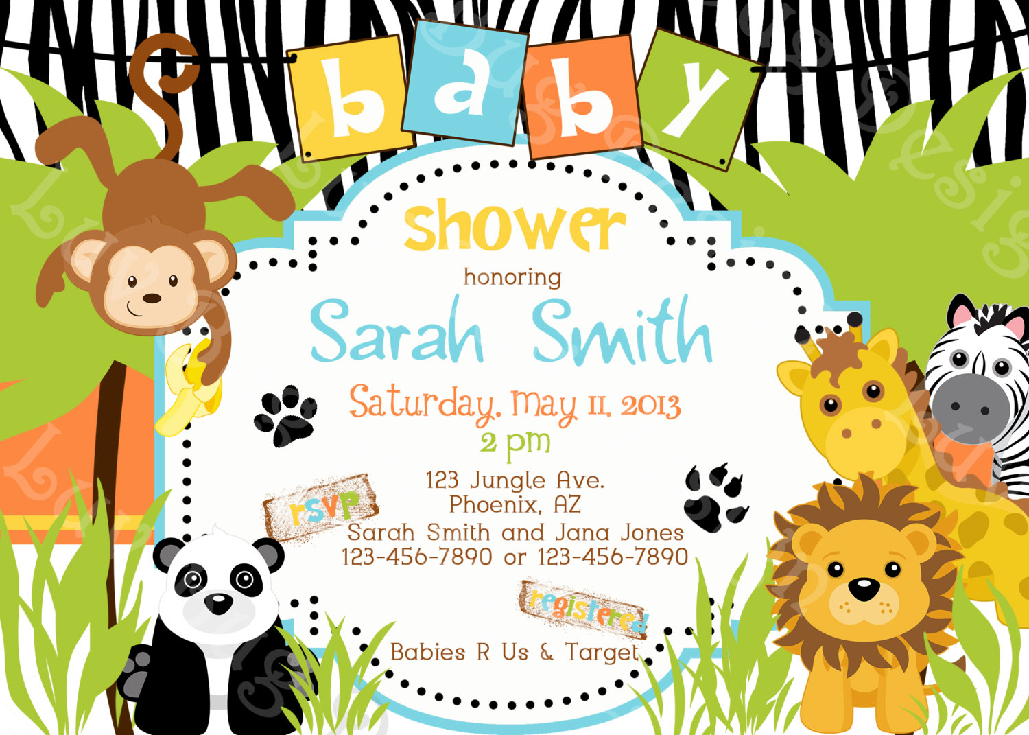 Zoo Themed Ba Shower Invitations Theruntime with regard to sizing 1500 X 1071