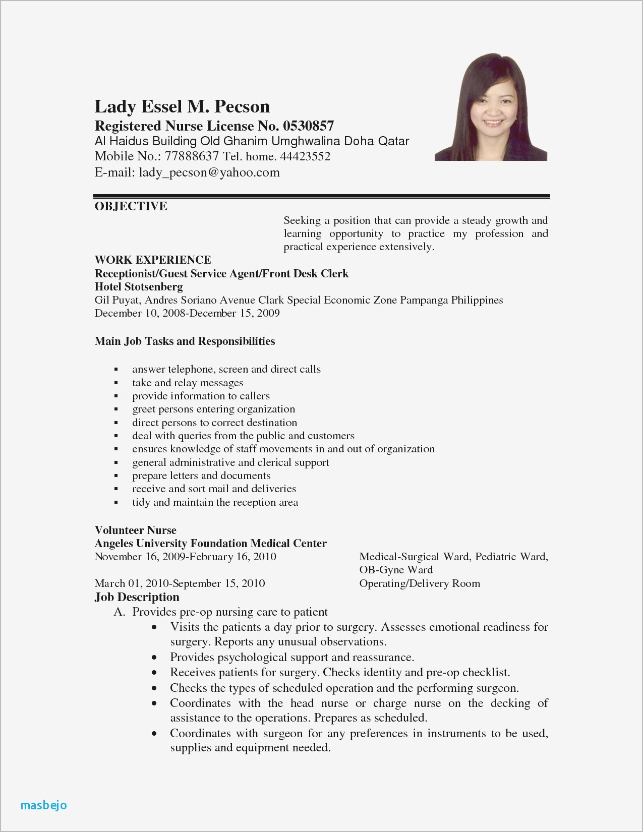 Cv Examples For Students With No Experience Luxus Format Covering Letter Cna Resume Sample