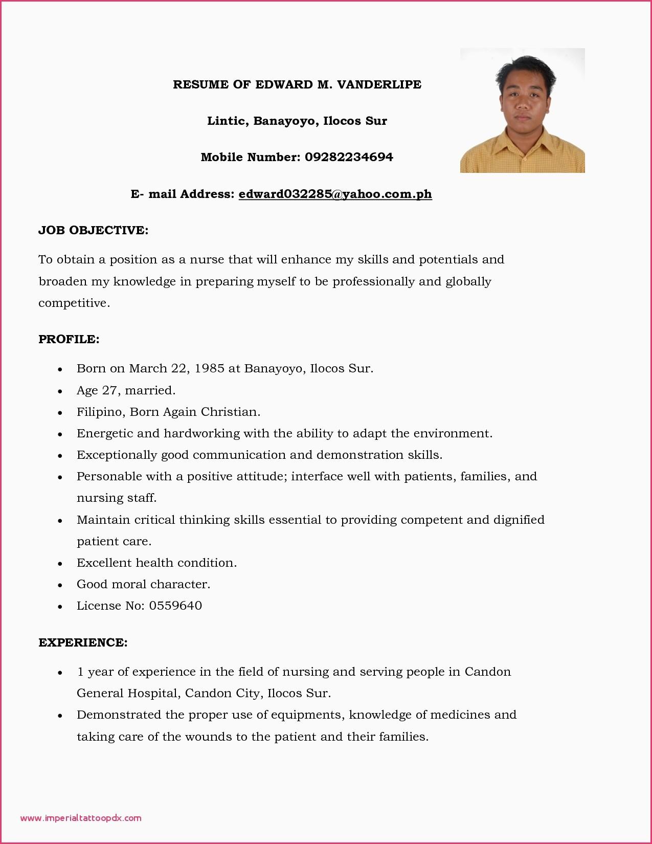 Cv format Pdf Bangladesh Best Of Curriculum Vitae Sample for