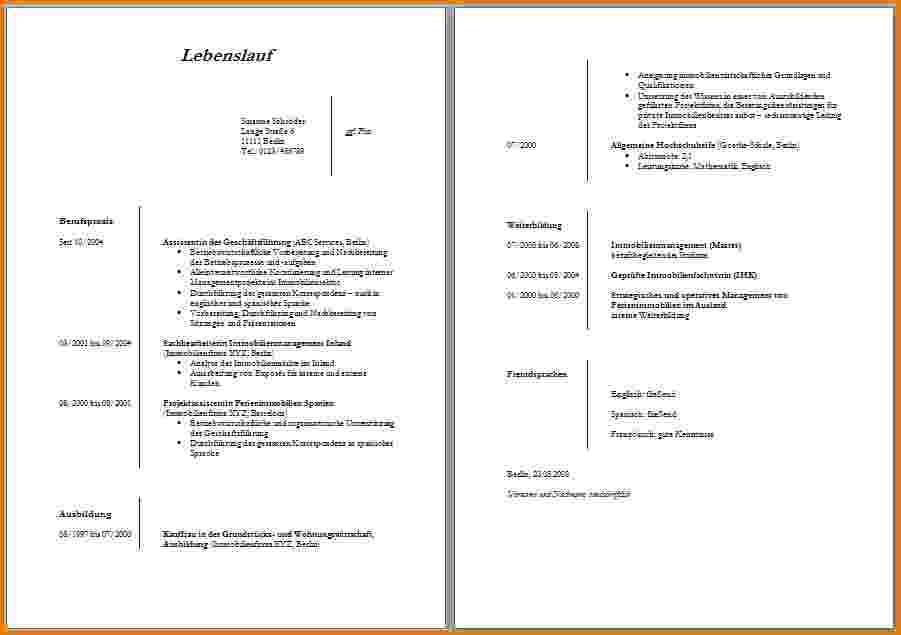 Lebenslauf Schülerpraktikum 9 Klasse Word Neu Homepage
