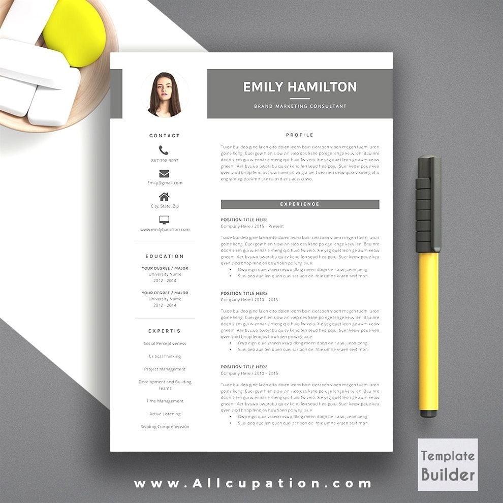 Moderner Lebenslauf Vorlage Word Best Of Simple Creative Resume ...