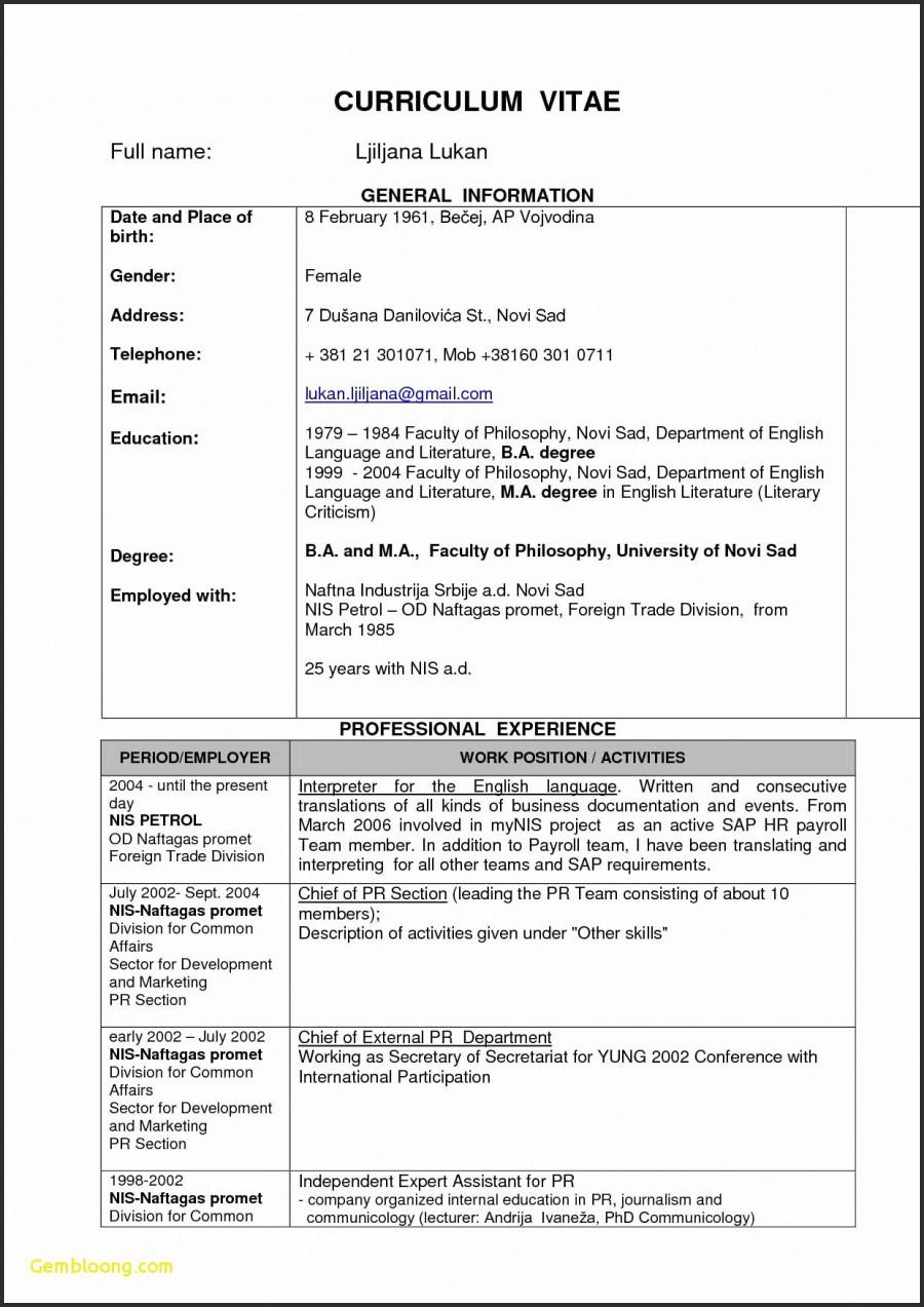 Blank Cv Template Uk Neu Resume format Download Pdf Best Free Cv ...