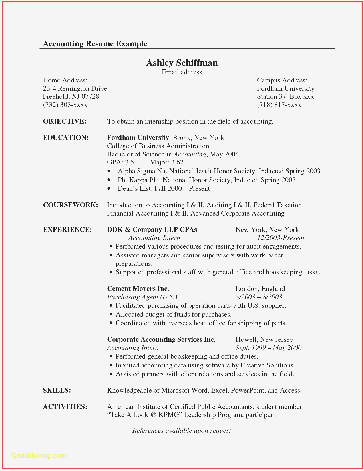 Chartered Accountant Cv Example Best Of Sample Resume For An 50