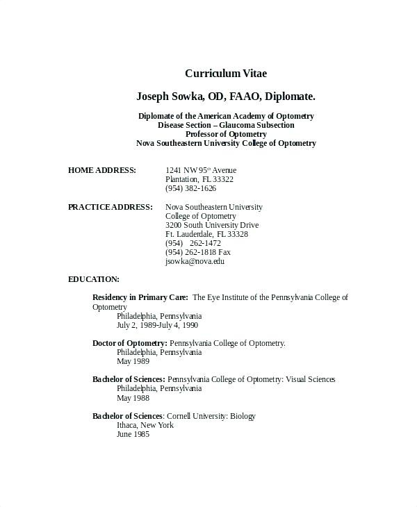 Curriculum Vitae Format For Freshers Pdf Cool Resume Outline Shintariesfo
