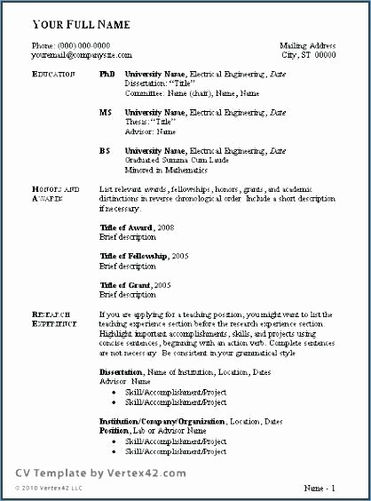 Curriculum Vitae Meaning In English Best Of Example Cv In